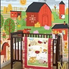 Farm Crib Bedding 42 Farm Theme Nursery Ideas Walltastic Murals For Nurseries