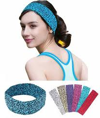 sports hair bands cheetah leopard cotton women stretch headbands 2 sports hair