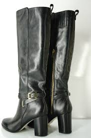 black leather motorcycle boots michael kors boots michael kors arley tall black leather boots sz