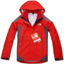 mens the north face triclimate 3 in 1 jacket indian red gray