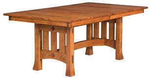 Amish Olde Century Mission Trestle Dining Table - Amish dining room table