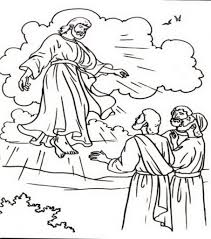 the brilliant and attractive jesus ascension coloring page with
