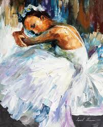 ballerina 2 u2014 palette knife oil painting on canvas by leonid