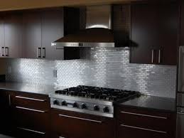 stainless steel backsplashes for kitchens best countertop to go with stainless steel subway tile backsplash