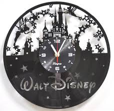 vinyl wall clock art kids gift laser cut record clock kids room