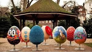 big easter eggs the uk s easter egg hunt london itv news