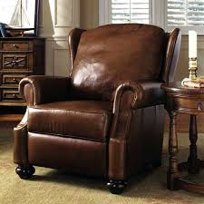 recliner leaher cowhide with hair brown leather rocker recliner