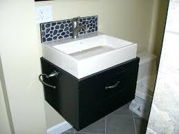 Installing Bathroom Vanity Cabinet - vanities floating vanity cabinet height floating bathroom vanity