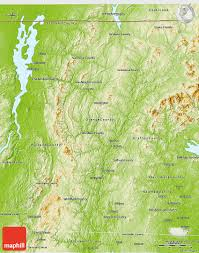 Physical Map Of The United States by Physical 3d Map Of Vermont