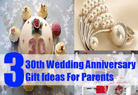 parents anniversary gift ideas 30th wedding anniversary gift ideas for parents pearl