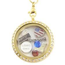 charm locket necklace images Shop usmc mom charm locket necklace charms craft jpeg