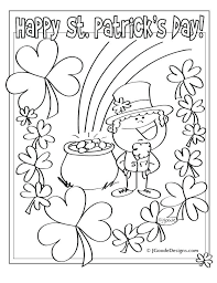st patrick coloring page plain design st day coloring pages