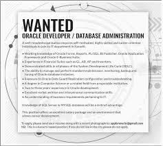 Database Engineer Jobs Oracle Developer And Database Administrator Jobs In Karachi 15