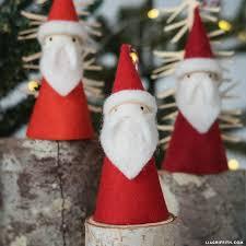 felt santa ornaments lia griffith