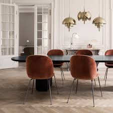 image result for beetle dining chair green velvet with black legs