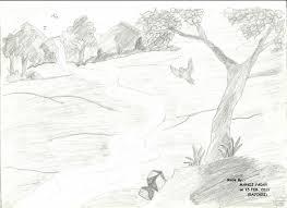 pencil sketch nature pencil art drawing