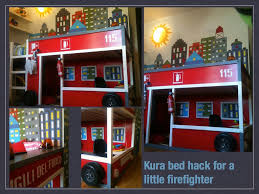 bedroom diy firetruck bed fire truck loft bed curtain fire