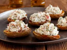 crab canapes crab salad stuffed potato skins recipes cooking channel recipe