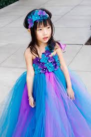 flower dress purple and teal tutu dress baby tutu dress