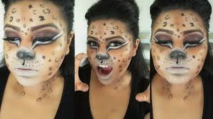 cheetah face makeup for halloween cheetah make up tutorial easy halloween idea youtube