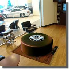 Upcycle Ottoman Car Part Upcycle Ottoman With Hub Cap Upcycle Car Parts Reuse