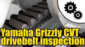 1006 yamaha grizzly 450 cvt drive belt inspection youtube