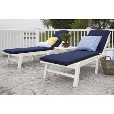 White Chaise Lounge Polywood Nautical White Stackable Patio Chaise Lounge Ncc2280wh