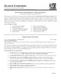 construction contracts manager sample resume project manager cv
