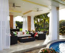 outdoor patio curtain with white curtains patio tropical and