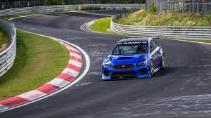 watch subaru u0027s sti racecar pick nurburgring lap record roadshow