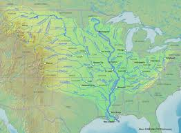 United States Map With Lakes And Rivers by The Largest Watershed In North America The Mississippi River