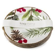christmas plate christmas tag home decor
