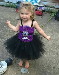 Purple Minion Shirt Toddler Youth Evil Purple Minion Inspired Tutu Dress Costume Chachatutu