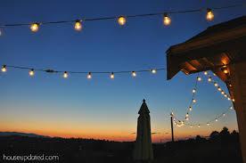hanging outdoor string lights hanging string lights chic outdoor string lights diy posts for