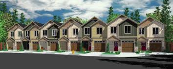 2 craftsman house plans town house and condo plans multi family and townhome