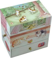 Childrens Music Boxes Enchantmints Curious Kittens Musical Treasure Box Cats U0026 Kittens