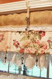 Country Curtains Roman Shades Creative Country Mom U0027s Sewing Burlap And Lace Curtains