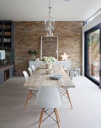 ideal home decoration brick wall in dining room interior nice view with exposed brick