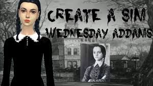 sims 4 halloween create a sim wednesday addams the addams