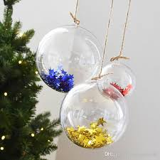 ornaments acrylic plastic spherical