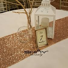 gold christmas table runner amazon com 12x72 inch rose gold sequin table runner for