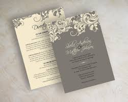 casual wedding invitation card with white and gray color and