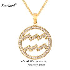 jewelry necklace simple images 2017 zodiac charms aquarius pendant necklace simple women men jpg