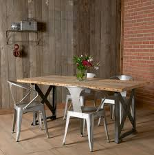 cheap rustic industrial barn wood dining table minimalist style