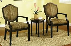 table and 2 chairs set amazon com 3 pc set of 2 accent chairs table living room chairs