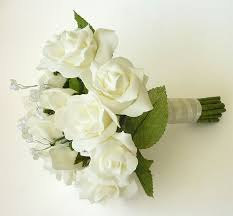 artificial wedding bouquets artificial brides bouquets ivory brides bouquet