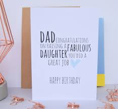 dad birthday card fabulous daughter dad card from daughter