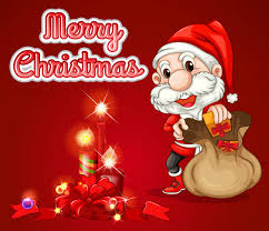 christmas greeting card vector free download