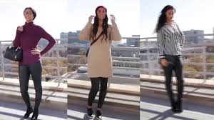 3 ways wear leather look trousers for tall women youtube