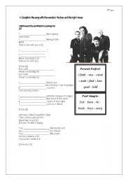 english teaching worksheets present perfect song